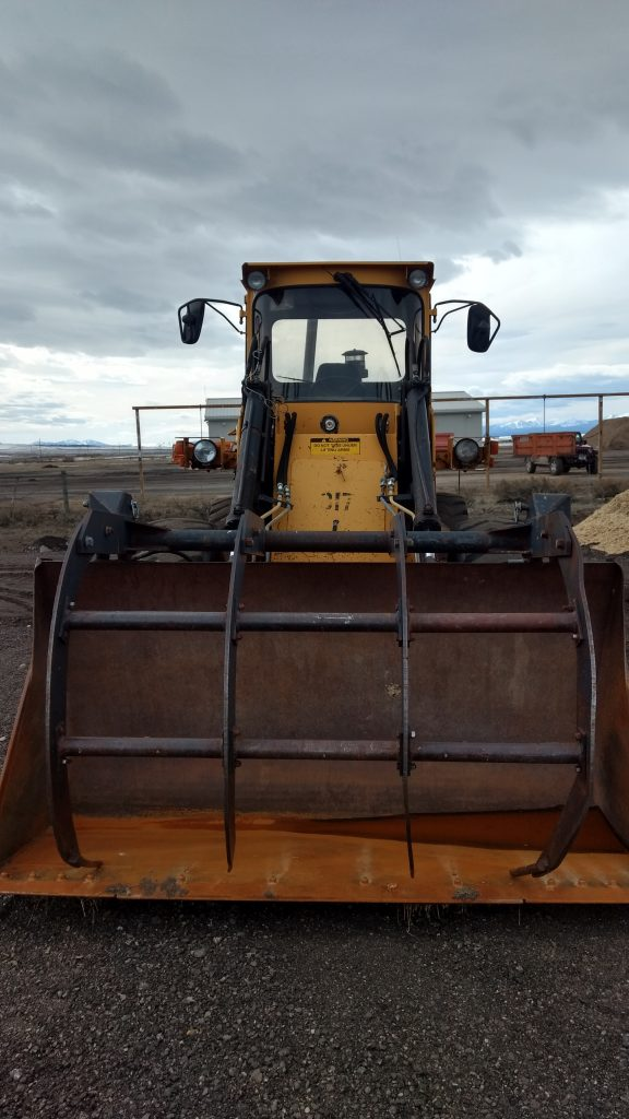 A local rancher lends this loader to BHWC each spring for use at our compost site.