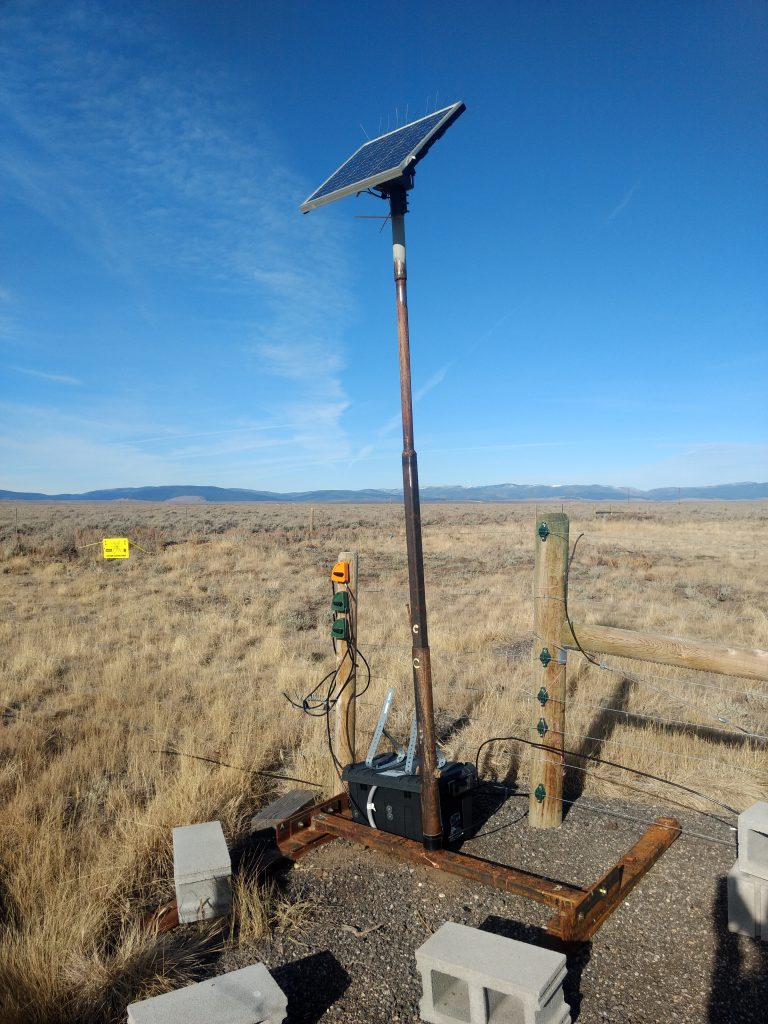 Our compost site features an electric fence powered by a solar panel, donated & installed by People and Carnivores.