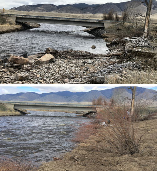 Mahaney Bank restoration, before and after.