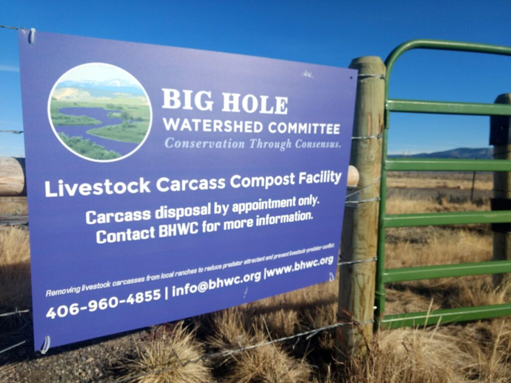Sign at BHWC compost site